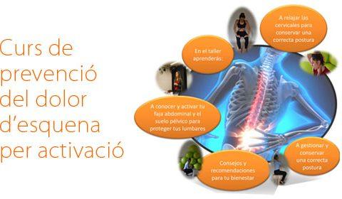 Curs de prevenció del dolor d'esquena per activació